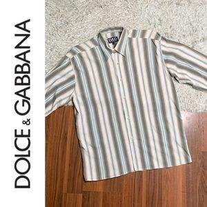 Authentic Dolce & Gabbana Striped Button Down
